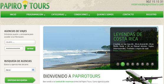 Papiro Tours aplicará un aumento global de entre el 1% y el 4% de las comisiones que perciben los agentes de viajes