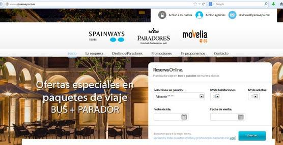 La plataforma tecnológica www.spainways.com permite combinar con autobús cualquier viaje a un parador nacional.