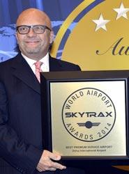 Qatar Airways recibe el premio al 'Mejor Servicio de Aeropuerto para Clase Preferente' en los Skytrax 2014