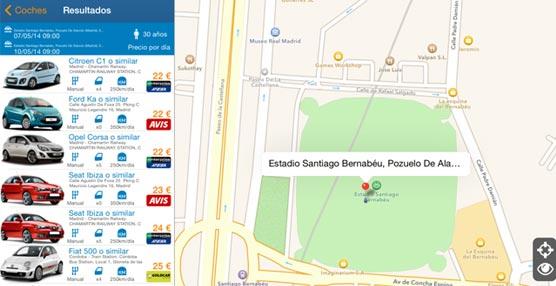 La agencia Logitravel impulsa el alquiler de vehículos con la geolocalización, tanto en su 'web' como en su aplicación móvil