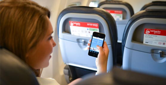 airberlin extiende el uso de teléfonos inteligentes o tabletas al despegue y aterrizaje en casi todos sus vuelos