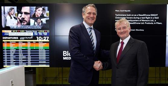 El London City Airport abre el primer Bloomberg Hub del mundo con información de actualidad para el viajero de negocios