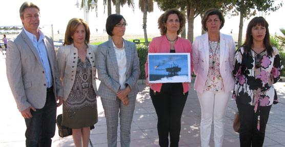 El PSOE inicia una campaña para mostrar su rechazo al inicio de las prospecciones de gas y petróleo en la Costa del Sol
