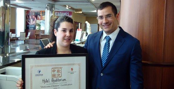 El Hotel Auditórium Madrid recibe el certificado Welcome Chinese al contar con servicios adaptados a la cultura china