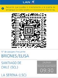 La aerolínea LAN presenta su tarjeta de embarque electrónica para 'smartphones'