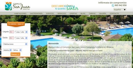 El Complejo San Juan, en Alicante, renueva su página 'web' para hacerla más intuitiva y visual