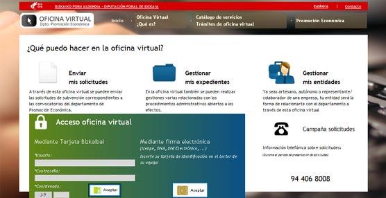 La Diputación de Vizcaya financiará la adquisición de equipos informáticos y audiovisuales para reuniones y eventos