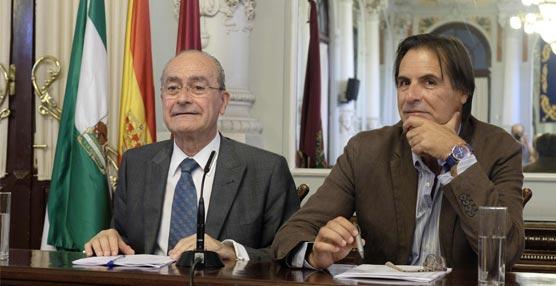 El alcalde de Málaga, Francisco de la Torre, y el concejal de Turismo de la ciudad, Damián Caneda.
