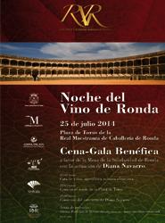 La Plaza de Toros de Ronda acoge la primera Noche del Vino, evento benéfico a favor de la Mesa de la Solidaridad
