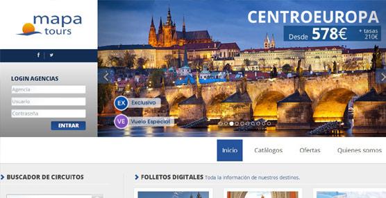 Mapa Tours lanza una nueva página 'web' para agentes de viajes con un diseño más moderno y original