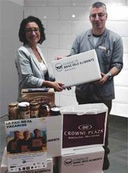 El Crowne Plaza Barcelona Fira Center colabora con la Fundación Banc dels Aliments