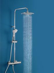 Blautherm, de Ramon Soler, ofrece un nuevo conjunto de ducha con grifería termostática