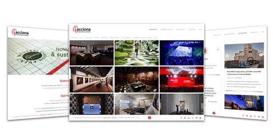 Acciona Producciones y Diseño estrena 'web' e incrementa su presencia en redes sociales