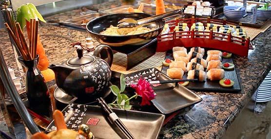 Servigroup ofrece buffets temáticos con sabores orientales, de México, Italia, España, Marinero, Mariscos y Repostería