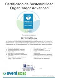 EDT Eventos consigue la certificación Advanced de EvenstSost en organización y producción de eventos sostenibles