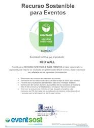 Servis Complet certifica el producto Neo Wall como solución sostenible para el montaje de estructuras para eventos