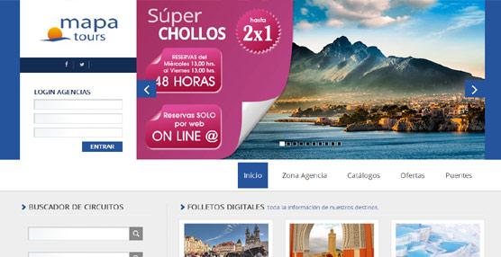 La nueva página 'web' de Mapa Tours multiplica por cinco sus visitas, con un tráfico semanal de 12.000
