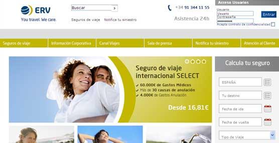 ERV amplía su oferta de seguros de viaje con dos nuevos productos y pone en marcha un nuevo motor de venta 'on-line'