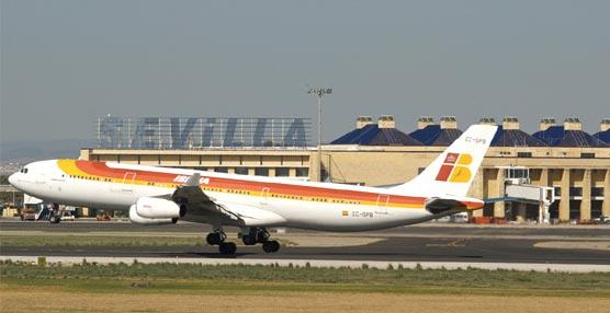 El Aeropuerto de Sevilla.