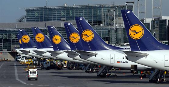Lufthansa cancela un total de 25 de los 57 vuelos programados para hoy por la quinta huelga de pilotos