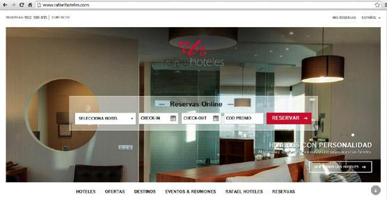 Rafaelhoteles lanza su nueva web apuntando a la facilidad de uso y máxima compatibilidad con los dispositivos móviles