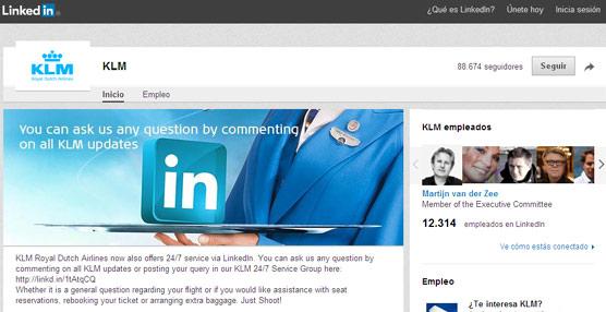 KLM refuerza su presencia en las redes sociales ofreciendo servicio a sus clientes a través de LinkedIn
