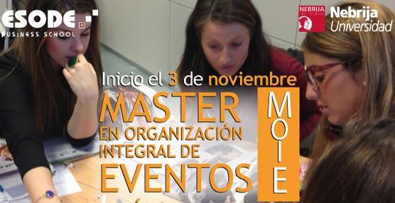 Esode convoca una nueva edición del Máster en Organización Integral de Eventos, que comienza en noviembre