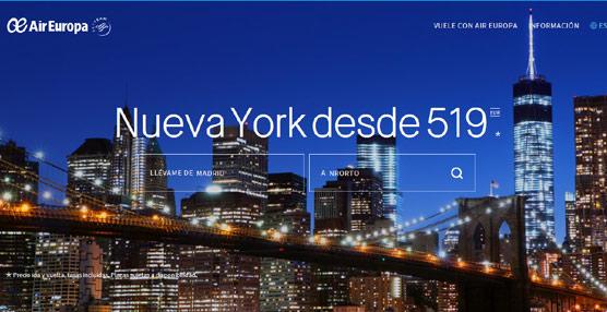 Air Europa estrena simultáneamente en 17 mercados su nueva página web, más clara, rápida e intuitiva