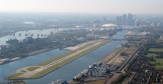 El London City Airport, ubicado junto a los principales centros financieros de Londres.