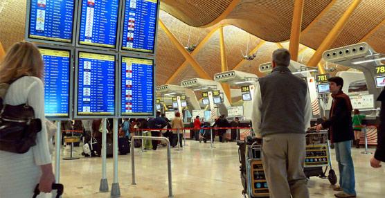 Adolfo Suárez Madrid-Barajas crece por décimo mes consecutivo y es el aeropuerto mas transitado.