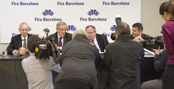 La presentación de los resultados de 2014 de Fira de Barcelona.