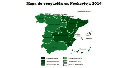 La ocupación de turismo rural para Nochevieja alcanza el 75%, 10 puntos porcentuales más que en 2013