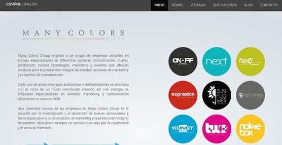 El grupo Many Colors diseña una nueva 'web' para diferenciar las distintas marcas de la compañía