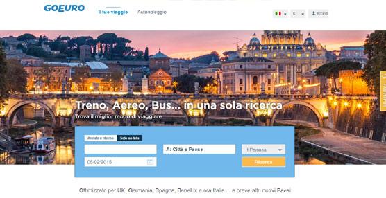 La plataforma Goeuro se implanta en el mercado iataliano, ofreciendo sus servicios en siete países de Europa