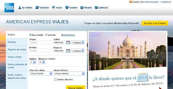 American Express lanza un servicio de viajes 'online' en España para la reserva de avión, hoteles y coches de alquiler