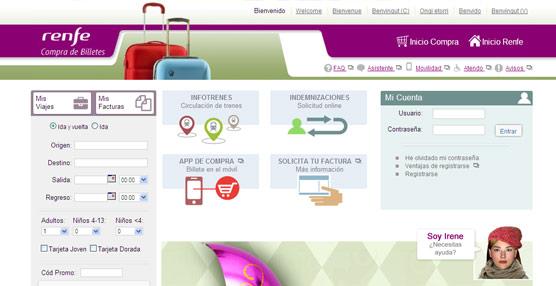 Renfe canaliza a través de su página web el 42% de las ventas, superando los 18 millones de billetes en 2014