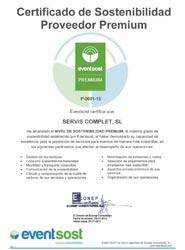 Servis Group consigue la certificación de proveedor sostenible Premium de EventSost