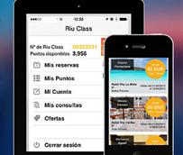 RIU lanza su nueva app para dispositivos móviles, que permite darse de alta y gestionar reservas a través de Riu Class