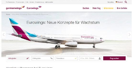 Eurowings, nueva filial de 'bajo coste' de Lufthansa, iniciará operaciones el próximo 25 de octubre