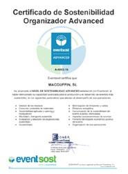MacGuffin obtiene la certificación Advanced en sostenibilidad para eventos de Eventsost