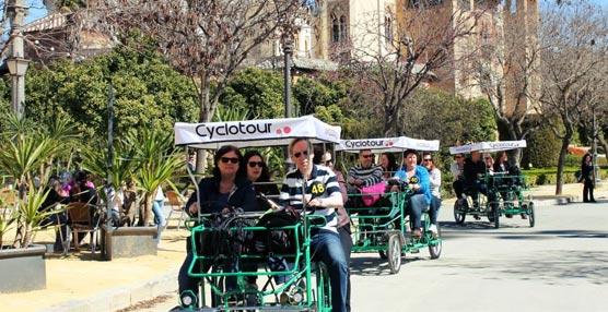 El grupo de profesionales suecos en su visita a la ciudad de Sevilla.