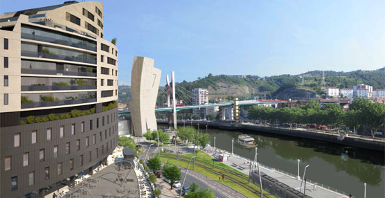 Un Vincci con 93 habitaciones en Bilbao será la pieza principal de un edificio híbrido con viviendas de lujo y garajes