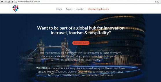Traveltech Lab ha sido creado por London & Partners, el organismo oficial encargado de la promoción de la ciudad de Londres, en colaboración con The Trampery.