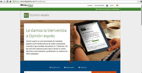 TripAdvisor habilita para los hoteleros solicitudes automáticas de opinión en su web tras las estancias de los huéspedes
