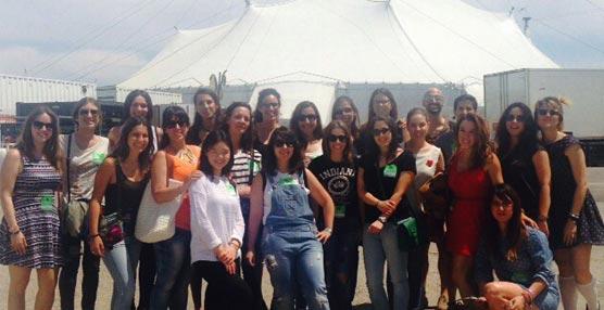 Alumnos del ISPE conocer los entresijos de la organización del espectáculo 'Amaluna' del Circo del Sol