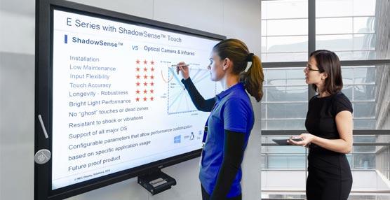 La empresa tecnológica NEC mejora la interactividad en reuniones con nuevas pantallas multitáctiles de gran formato