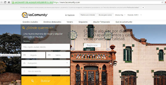 El portal-club de alquiler LaComunity continúa su expansión internacional y lanza 300 nuevos destinos