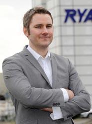 El responsable de Comunicación de Ryanair, Robin Kiely.