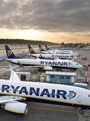 Ryanair es la aerolínea de 'bajo coste' más utilizada.