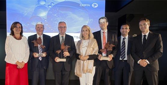 GEBTA España entrega sus Premios de 2015 a la internacionalización, eficiencia aeronáutica y 'neutralización' de la movilidad